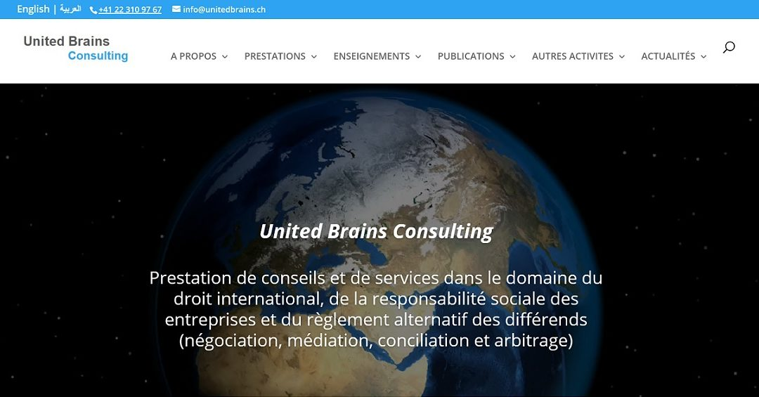 "Launch of the ""United Brains Consulting"" website"
